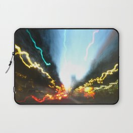 Abstract Downtown Flow - Light Painting Laptop Sleeve