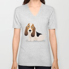 Basset Hound - Cute Dog Series Unisex V-Neck
