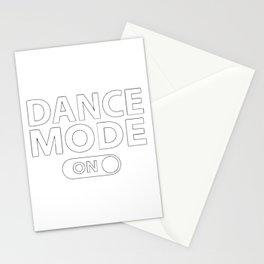 Dance Mode On Stationery Cards