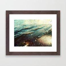Beach Waters Framed Art Print