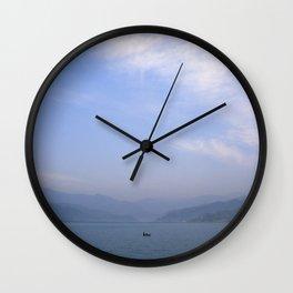 the fisherman's commute Wall Clock