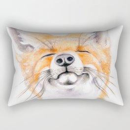 Happy Fox #society6 #buyart #decor #lifestyle Rectangular Pillow