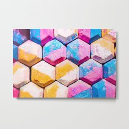 colored chalk soap Metal Print