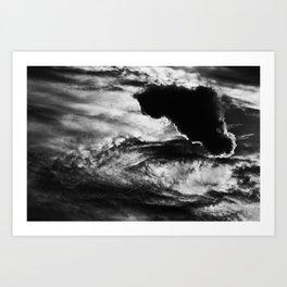 Black Cloud Art Print