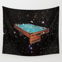 pool Wall Tapestries featuring Cosmic Pool by Eugenia Loli