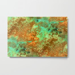Rust patina abstract painting Metal Print