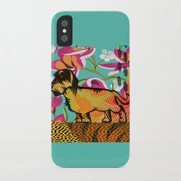Dachshund  pop art iPhone Case
