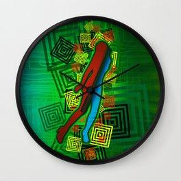 Raimbow Lady Wall Clock