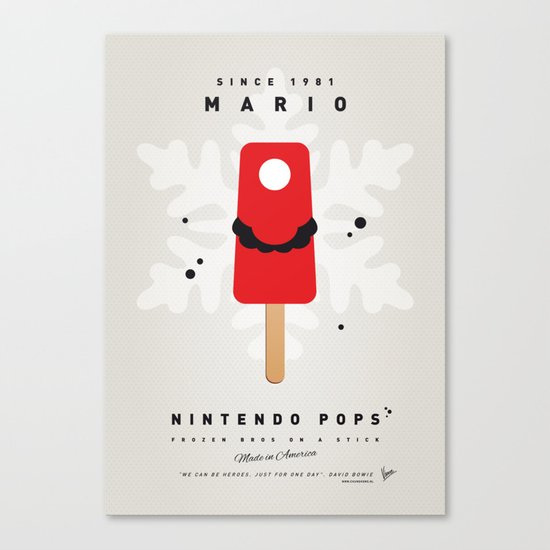My NINTENDO ICE POP - Mario Canvas Print