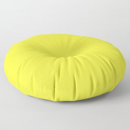 Australian Great Barrier Reef Neon Yellow Sergeant Major Fish Floor Pillow