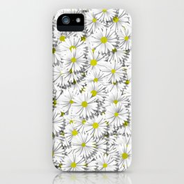 white daisy flowers iPhone Case