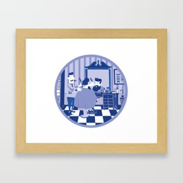 Barber hipster Framed Art Print