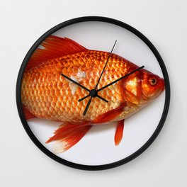 Red Gold Fish Wall Clock