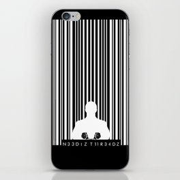 Bar code prison iPhone Skin
