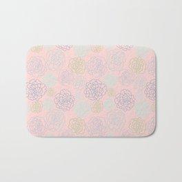 pink florals Bath Mat