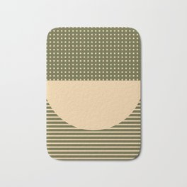 Geometric Spring Abstract - Pantone Warm color Bath Mat