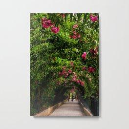 Flower Archway in Alhambra, Spain Metal Print