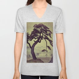 Old Man Standing Unisex V-Neck