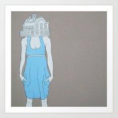 House Head Art Print