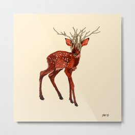 Babes in Woodland (Fawn) Metal Print