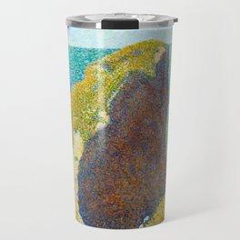 Le Bec du Hoc Grandcamp Georges Seurat - 1885 Impressionism Modern Populism Oil Painting Travel Mug