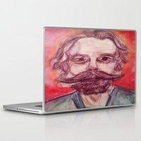 grateful dead Laptop & iPad Skins featuring Bob Weir Watercolor Portrait Grateful Dead by Acorn