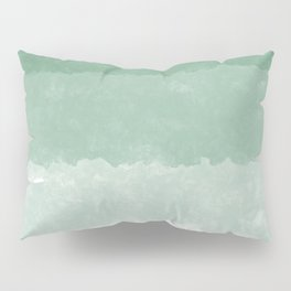 Modern lucite green abstract watercolor ombre pattern Pillow Sham