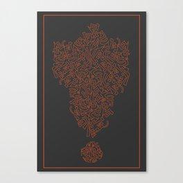 Tipping Point- Orange Canvas Print