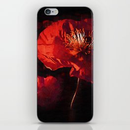 Two Deep Red Poppies iPhone Skin
