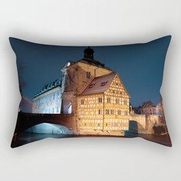 Bamberg Town Hall at night Rectangular Pillow