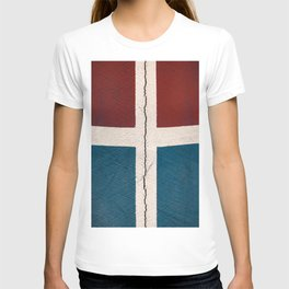 Cracked cement wall T-shirt