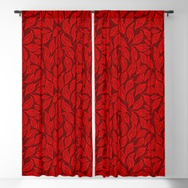 V.10 - Striated Leaves - Red Fall Leafage Blackout Curtain