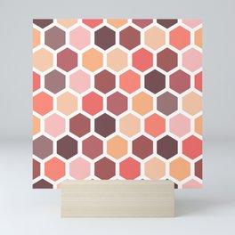 Colorful honeycomb pattern Mini Art Print