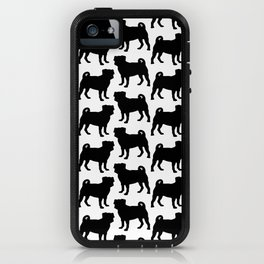 Simple Pug Silhouette iPhone Case