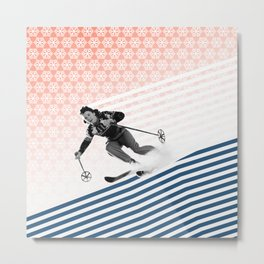 She's got Slope Style Metal Print