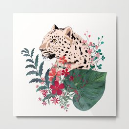 Leopard in the jungle. Metal Print