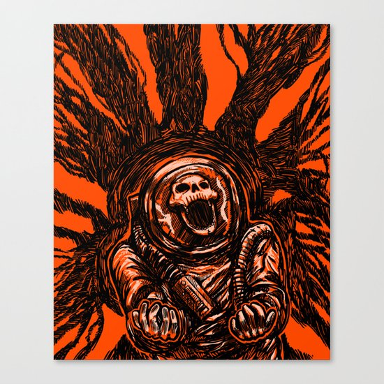 A Spacesuit Has Been Compromised Canvas Print