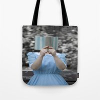 reading Tote Bags featuring Reading by Maria Heyens