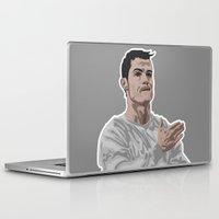 ronaldo Laptop & iPad Skins featuring Cristiano Ronaldo by siddick49