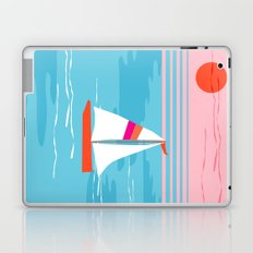 Mellow Out - memphis throwback retro classic neon yacht boating sailboat ocean sea 1980s 80s pop art Laptop & iPad Skin