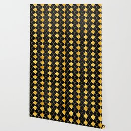Black and golden scales pattern Wallpaper
