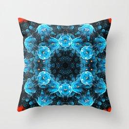 Deep Sea Mandala Throw Pillow