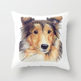 Shetland sheepdog - cp Throw Pillow