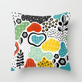 Color on Color Throw Pillow