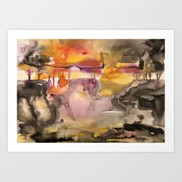 impression of fall Art Print