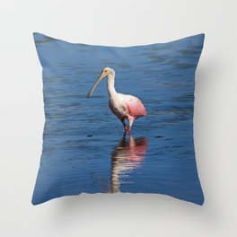 Roseate Spoonbill at Ding V Throw Pillow