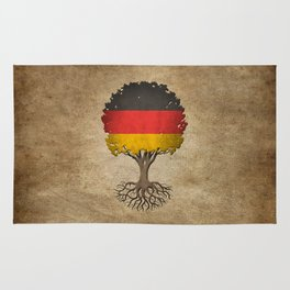 Vintage Tree of Life with Flag of Germany Rug