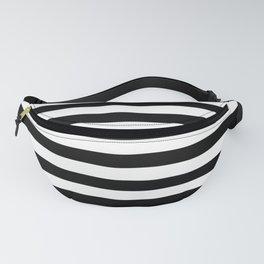 Black & White Stripes Fanny Pack