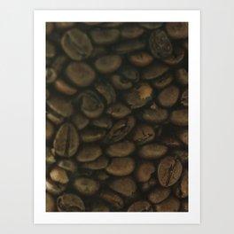Coffee pattern, fine art photo, Coffeehouse, shops, bar & restaurants, still life, interior design Art Print