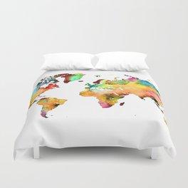 world map 71 Duvet Cover